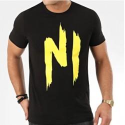 NI TS01 T-SHIRT NOIR/JAUNE