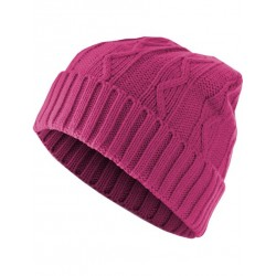 UC BEANIE CABLE FLAP ROSE