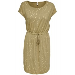 ONLY ONLMANYA ROBE A POIS BEIGE