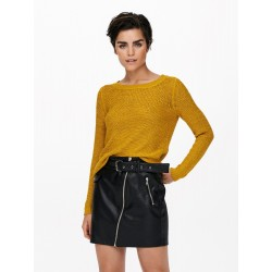 ONLY ONLGEENA PULLOVER JAUNE