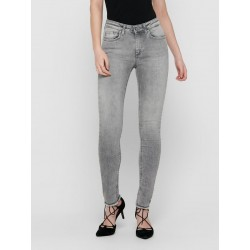 ONLY ONLBLUSH LIFE MID JEANS GRIS